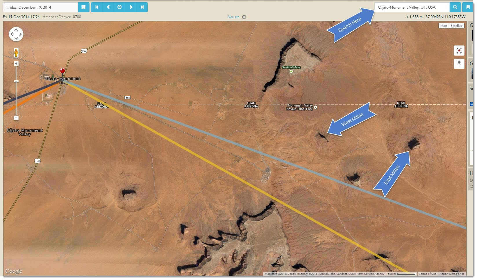 Map Of Arizona Monument Valley.Planning The Monument Valley Mitten Shadow The Photographer S